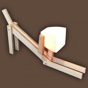 Luminária Cachorrinho Madeira Branca